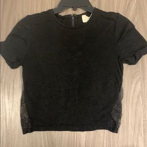 GREAT condition. Alice and Olivia black crop top